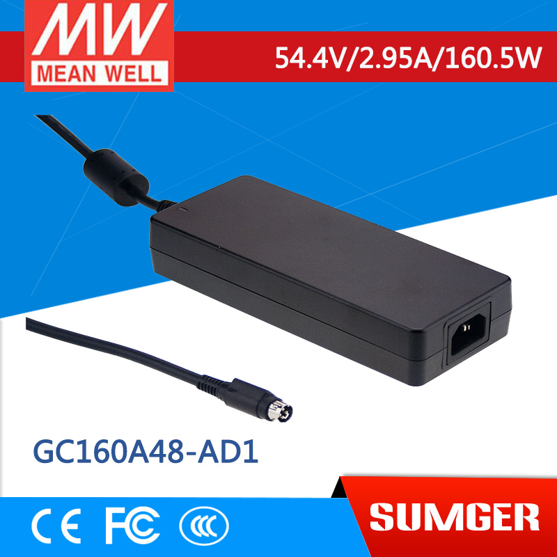 1MEAN WELL original GC160A48-AD1 54.4V 2.95A meanwell GC160 54.4V 160.5W Single Output Battery Charger 1mean well original gc160a24 ad1 27 2v 5 89a meanwell gc160 27 2v 160 2w single output battery charger