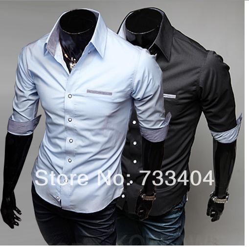 93128a15 2014 Fashion Men Shirts Half Sleeve Turn Down Collar Single Breasted Casual  Designer Brand Men Cotton Shirts Free Shipping C14-in Casual Shirts from  Men's ...