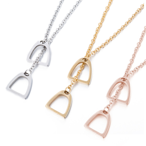 Luck Horseshoe Necklace Horse Hoof Pendants Unisex Jewelry For Men/ Women Best chain men necklaces(China)