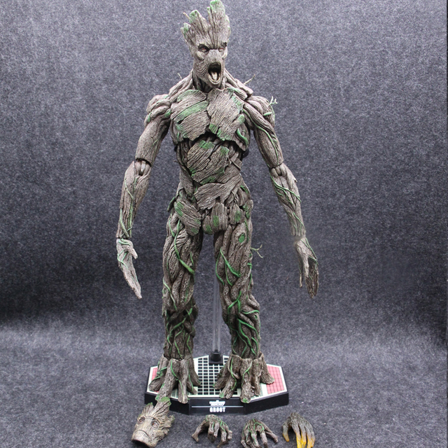 Hot Toys Version Marvel Groot in Guardians of The Galaxy Tree Man Avengers 40cm Big Size BJD Action Figure Toys 1