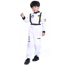 Astronaut Costume For Kids Boy Space Cosplay Uniform Jumpsuit Halloween Masquerade Carnival Party Stage Performance Role Playing