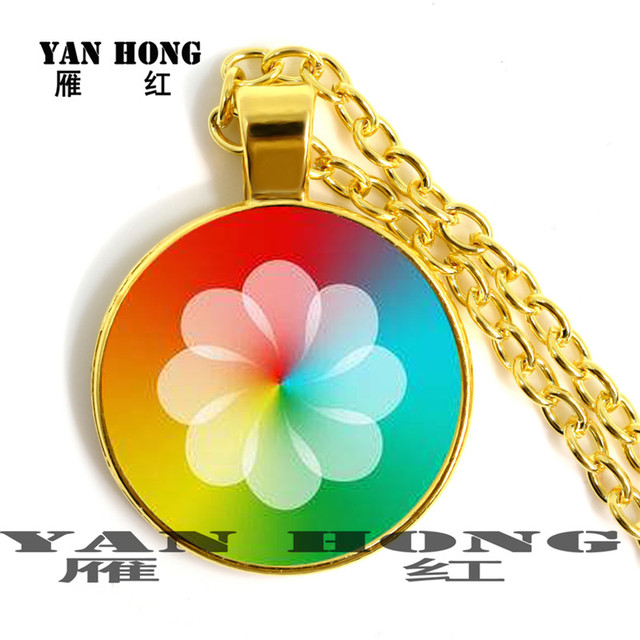 YANHONG   Fashion Necklace glass crystal 25MM. Handmade classics, letters, geometric elements,