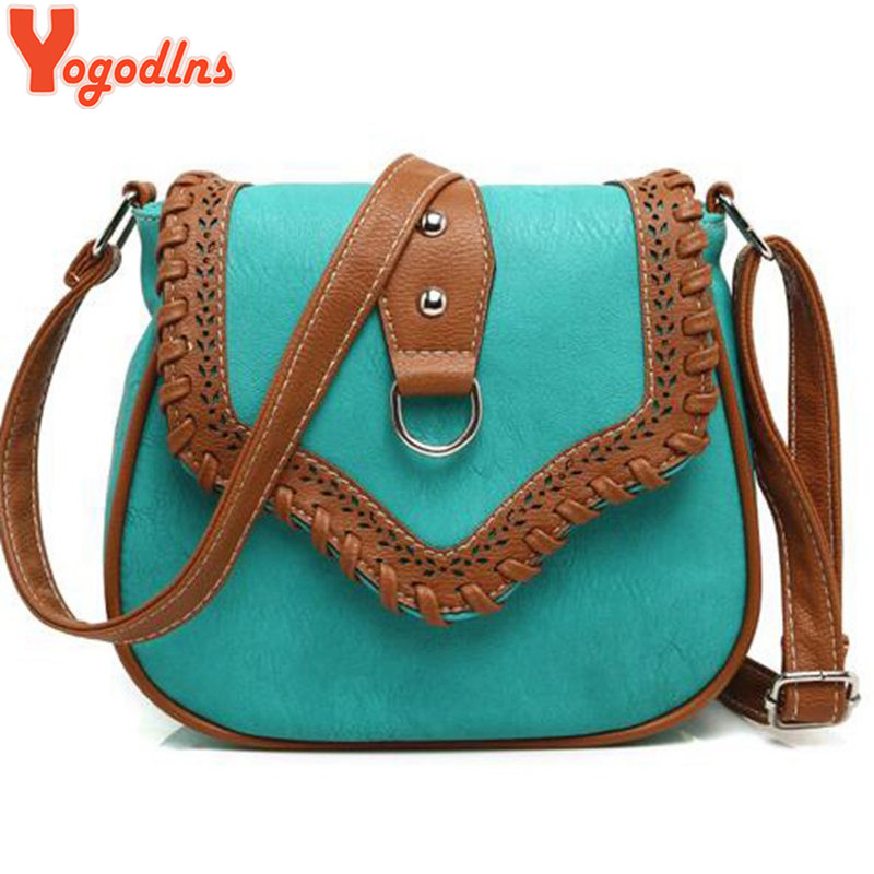 2017 Women Messenger Bag Hollow Out bolsa feminina bolso mujer Leather Shoulder Bag Saddle Crossbody Bags for Women