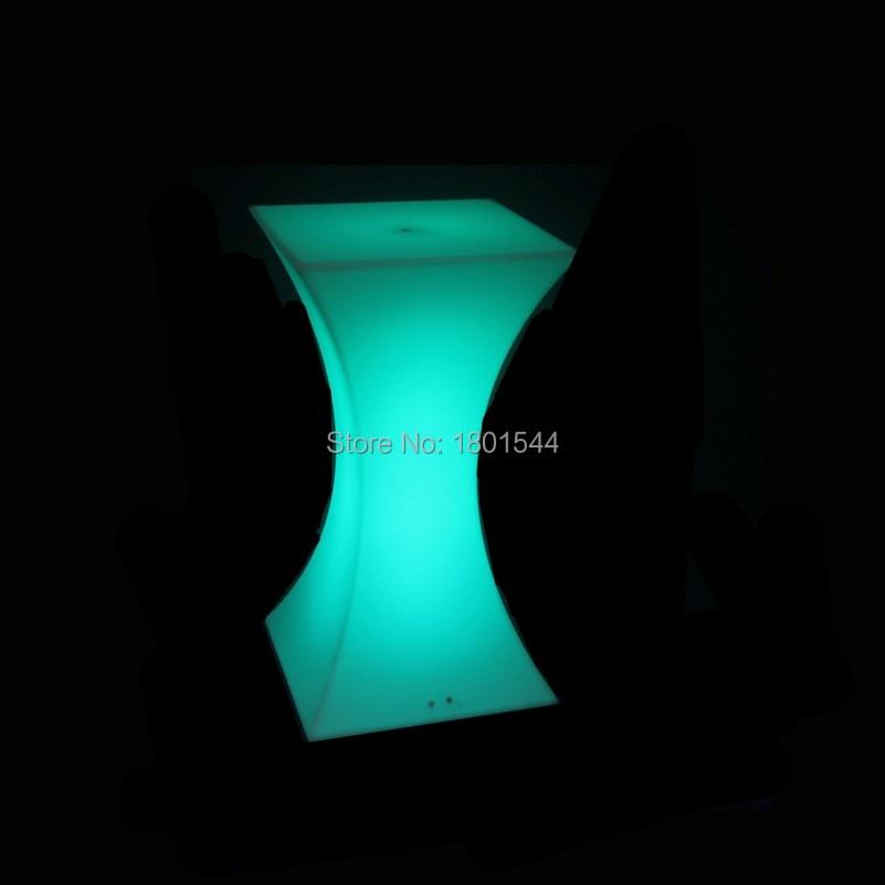 45*45*110cm event party use rgb coloured illuminated bar lounge furniture ,glowing furniture