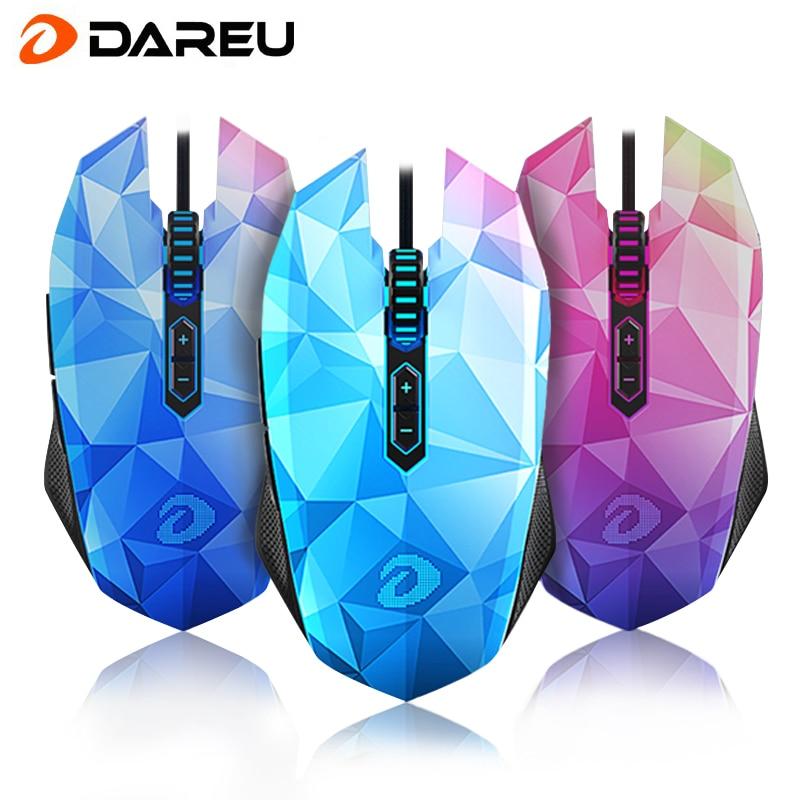 Nuovo Arrivo DAREU EM925pro USB Optical Gaming Mouse 10800 DPI 7 Pulsanti Computer PC Gamer Magic Mouse Con led Respirazione luci - 2