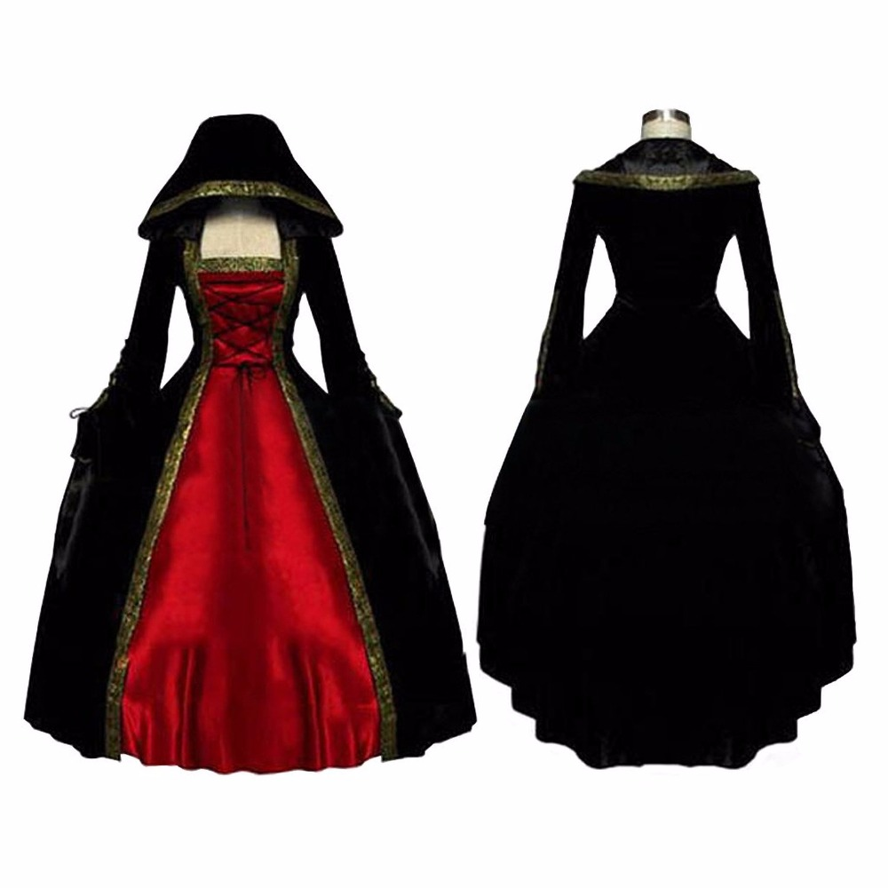 Women\'s Rococo Ball Gown Gothic Medieval Dress Costume - fastboxx review
