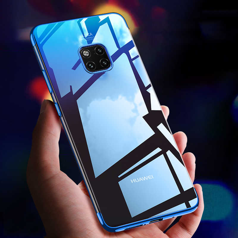 For Huawei Mate 20 Pro Case Soft Silicone Cover Clear Transparent Plating Bumper Case for Huawei Mate 20 / mate 20pro Case Cover