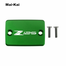 MAIKAI For KAWASAKI Z125 2019 CNC Aluminum Motorcycle Brake Fluid Fuel Tank Cap Cover