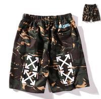 OFF WHITE C/O VIRGIL ABLOH OW 19ss European American street fashion camouflage men women shorts sports shorts Beach Shorts