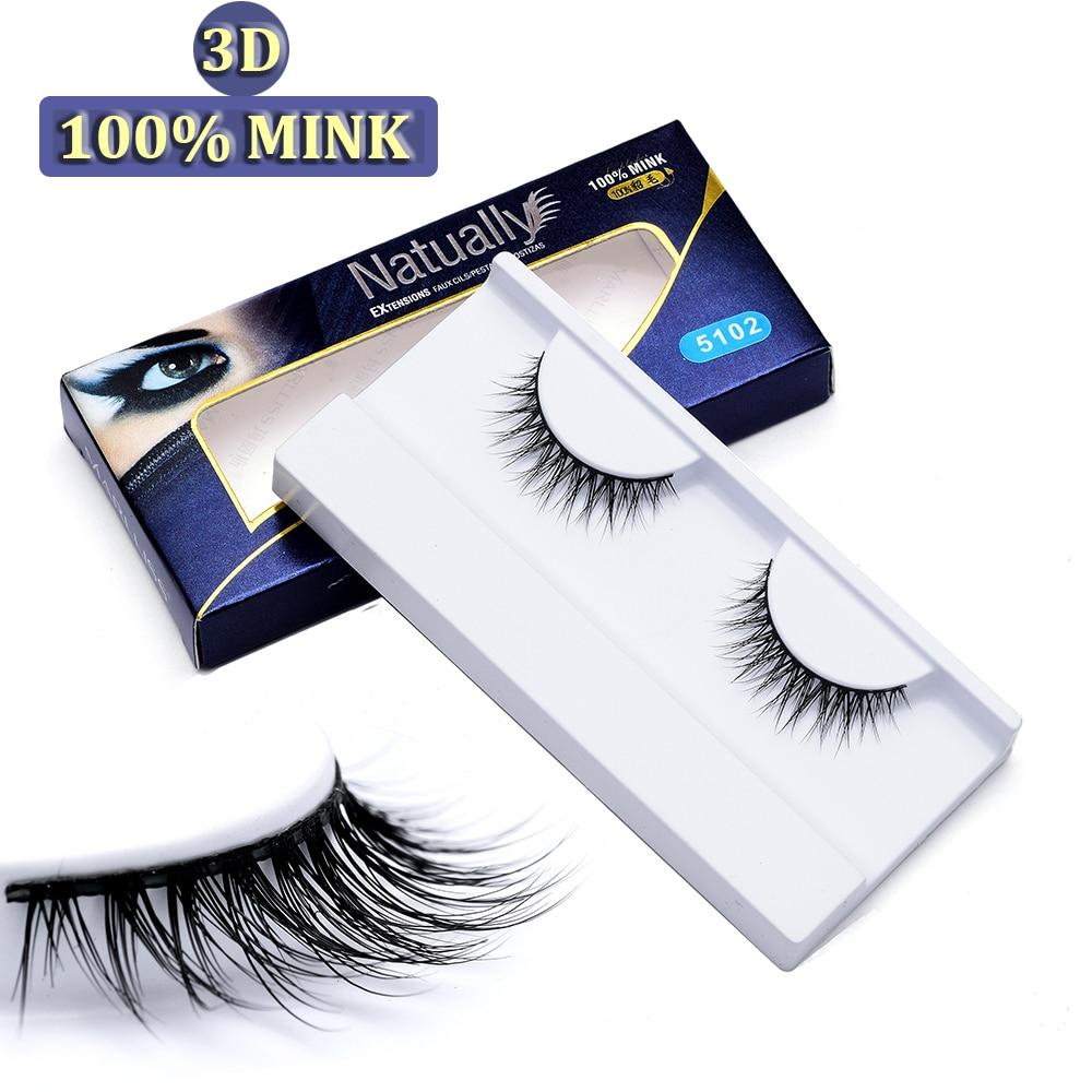 Hoge kwaliteit 3D nertsen bontwimpers Voor make-up, 100% nertsen - Make-up
