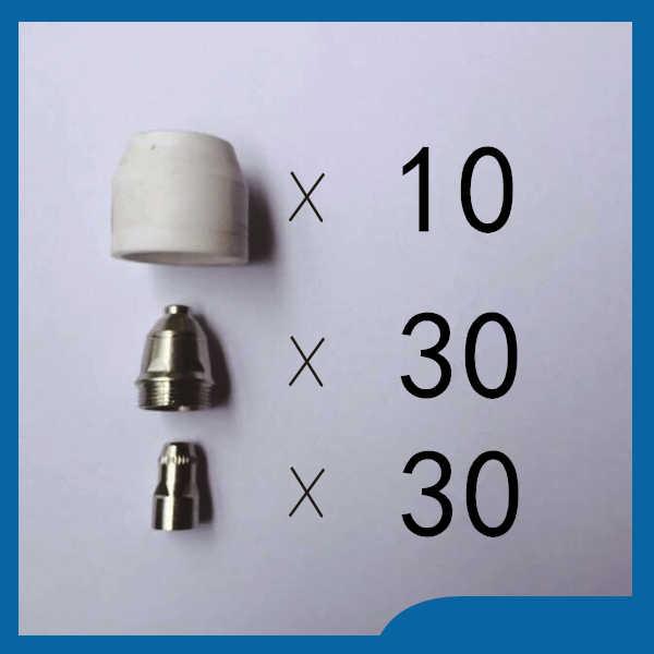Plasma Cutter Consumable 1.5mm Nozzle Tip Electrode For P80 Torch 10pcs//Set