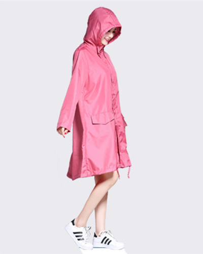 good texture official buy sale US $31.27 15% OFF|Japan Fashion Womens Long Trench Raincoats burbe rry_  women Hooded Poncho Waterproof Pink Green Sports Girls Jacket  FreeShipping-in ...