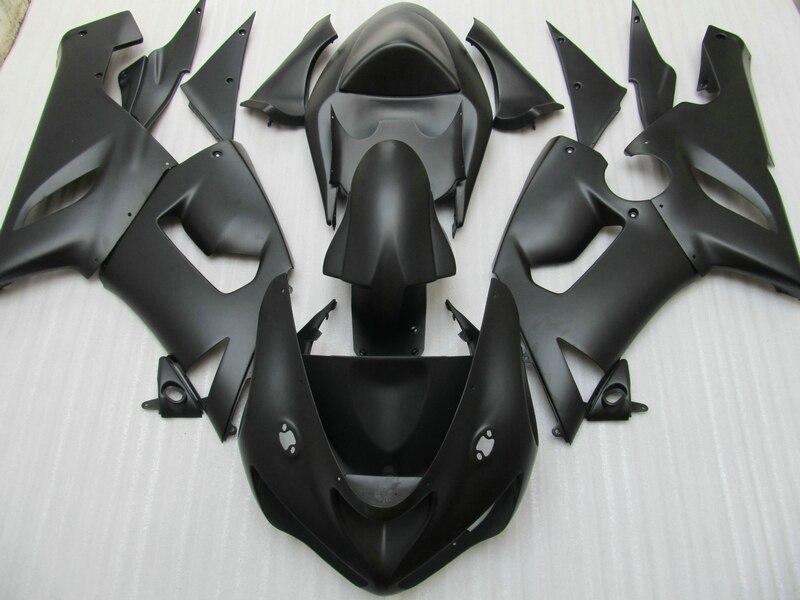 Motorcycle fairing kit for Kawasaki ninja ZX6R 05 06 matte black fairings set ZX6R 2005 2006 HN03
