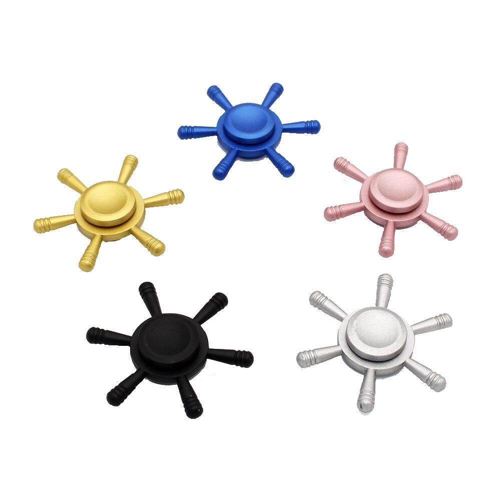 Creative Fidget Spinner Alloy Rudder Steering Wheel EDC Hand Spinner Anti Stress Finger Spinners 4 Colors