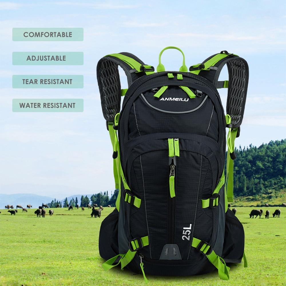 Sac à dos de vélo 25L sac de vélo étanche et respirant pour vélo sac à dos de vélo sac à eau d'hydratation ultra-léger avec couverture de pluie