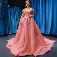 YEWEN Sexy Boat Neck Evening Dresses Long Evening Dress