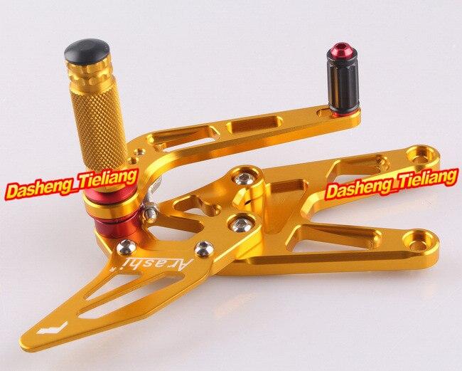 CNC регулируемый задний Набор подножки для Yamaha YZF R6 2003 2004 2005& R6S 2006-2009 Алюминиевый сплав золото