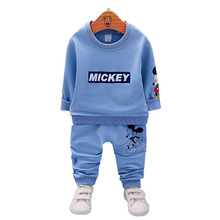 Autumn Boys Clothing Sets Mickey Baby Children Fashion Cotton Sweatershirt T Shirt and Pants Suits Kids Clothes Sets Costume