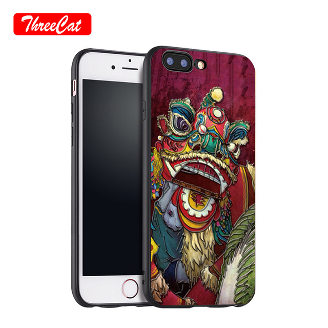 new concept 631d5 4cdb5 US $3.99 |For iPhone 6 6S 7 8 Plus TPU+PC Supreme Case Back Cover Stylish  3D Relif Chinese Dragon 3D Relief Case Mobile Phone Accessories-in Fitted  ...