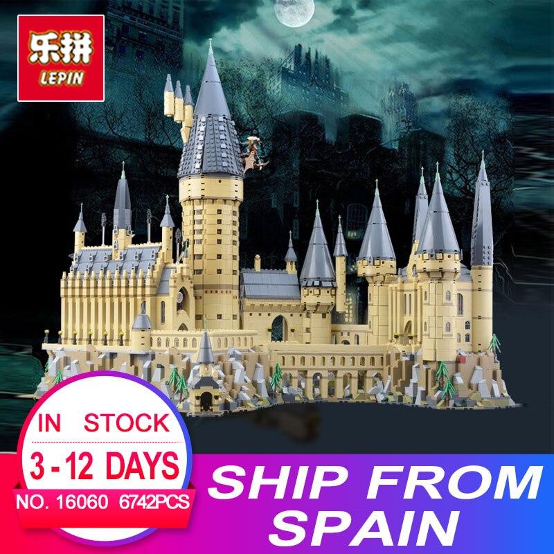 2018 Nuovo Lepin 16060 Harry Magia Potter Hogwarts Castello Scuola Compatibile Con Legoing 71043 Blocchi di Costruzione di Mattoni Educativi