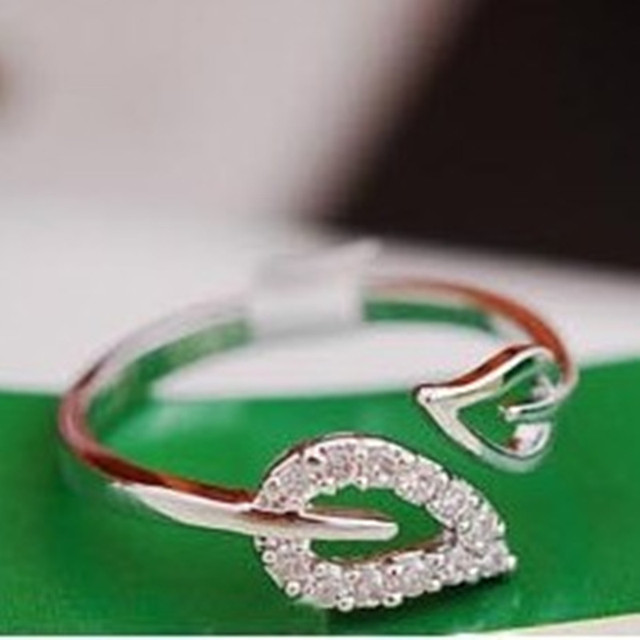 2017 new two anti-drilling leaves retro Korean female couple rings jewelry influ