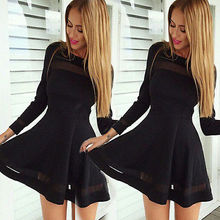 Sexy Women 2016 New Arrived Summer Casual Long Sleeve font b Evening b font Party Vestidos