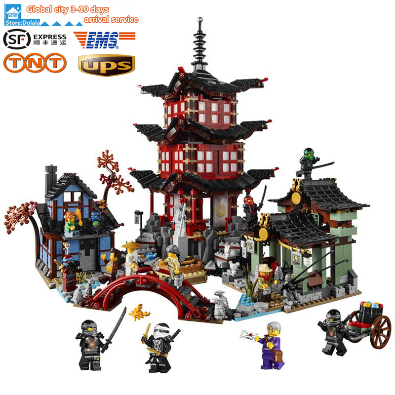font b LEPIN b font 06022 Ninjagoe Temple of Airjitzu Block Brick Toys Set Boy