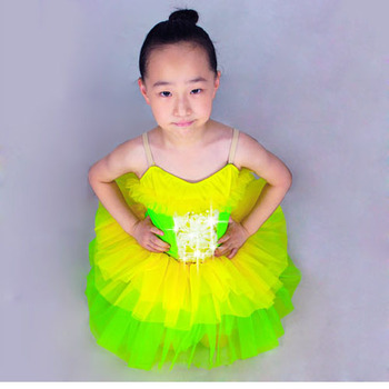 Ballet Justaucorps Gymnastics Leotard For Girls Child Leotard Evening Dress Princess Costume Female Latin Dance Clothes 8021