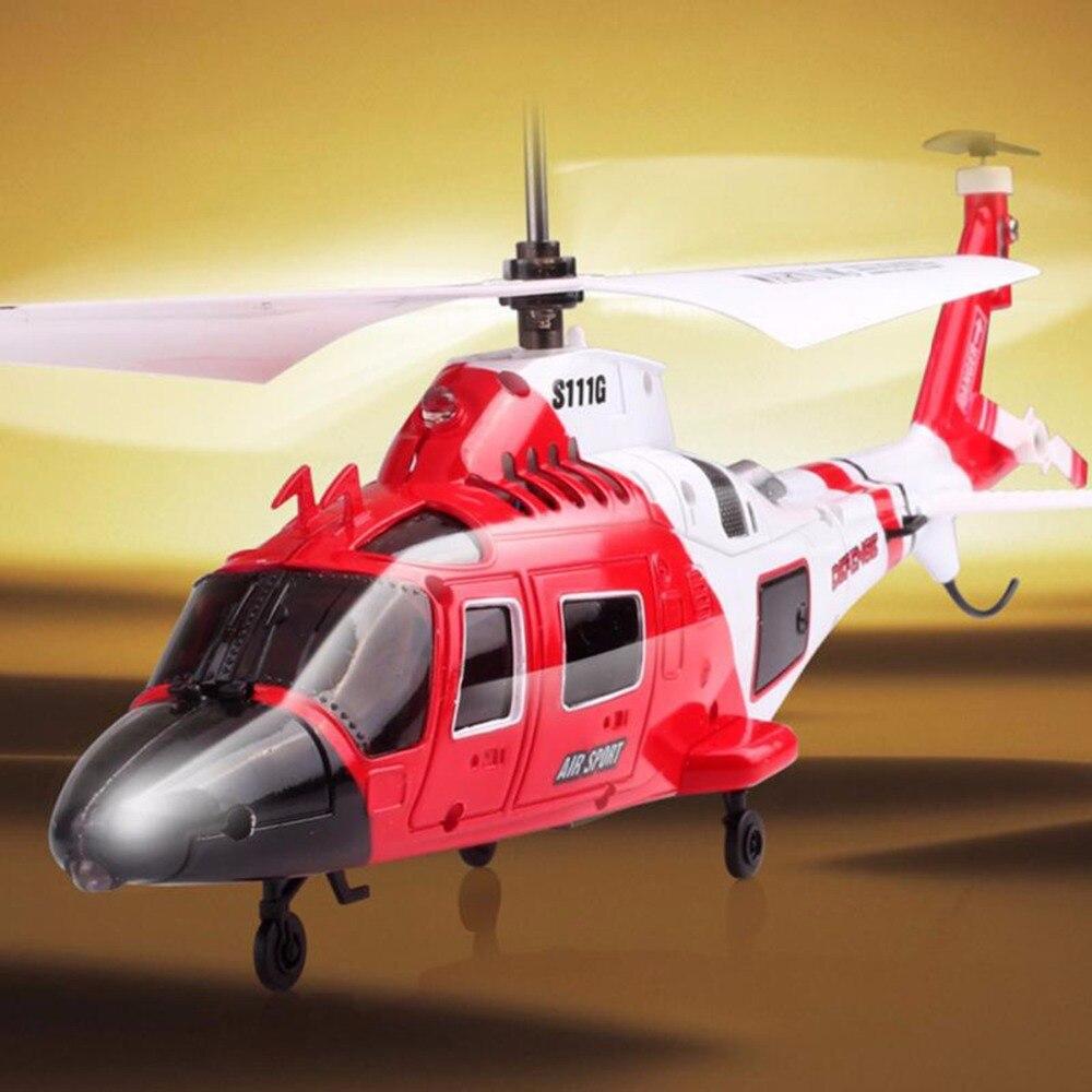 ライト USB ミニシミュレーション軍リモートコントロールヘリコプタージャイロ飛散防止 S111G