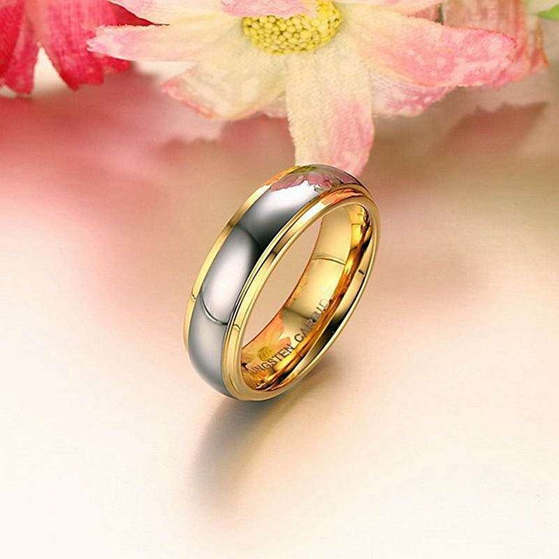 8901df95851 Dropwow Simple Couple Titanium Steel Wedding Rings women men s ...
