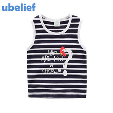 UBELIEF Child Summer set Underwaist Character Cock Kids Boy Camisole Clothe Baby Boys Stripe Waistcoat baby boy Sleeveless Top