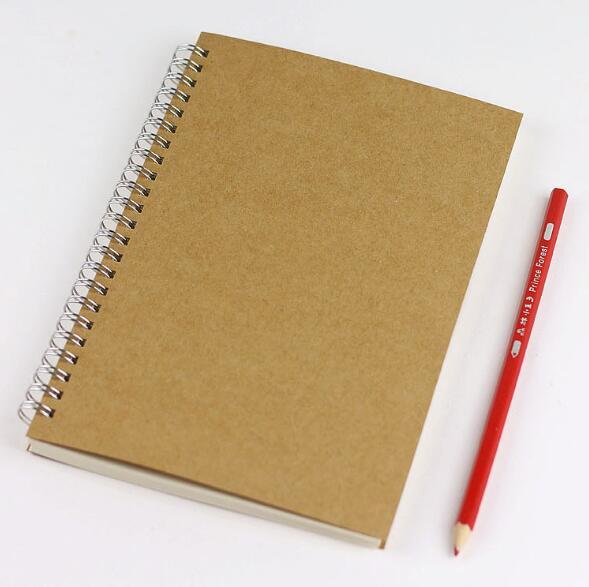 21.2*14.6 cm Bobine Artisanat Portable Couvercle En Spirale Composition Livre Dot Grille Blanc Ligne Styles pour Comptes Enregistrement ou Daily Mémos