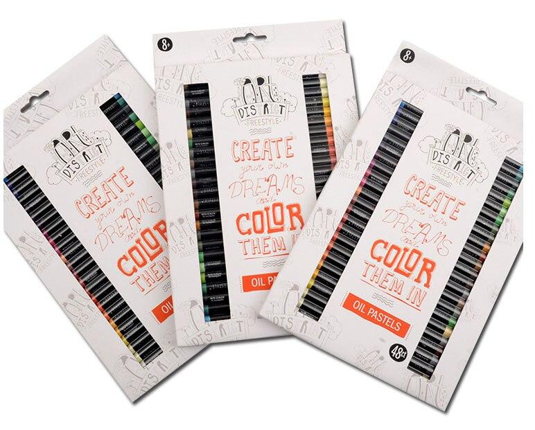 48 Colors Crayons Suit Washable Color Crayon Children Graffiti Oil Pastel Art Supplies Papelaria