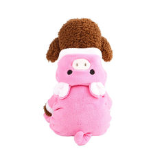 pet dog coat jackets 2019 winter warm Unisex cute pink Velvet Clothes Puppy Dog Cat Hoodies Coat jumpsuit Jacket Apparel 2019(China)