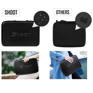 Image 4 - SHOOT Large Portable PU Waterproof Carrying Case for GoPro Hero 9 8 7 5 SJCAM Xiaomi Yi 4k Eken h9 Camera Box Go Pro 8 Accessory