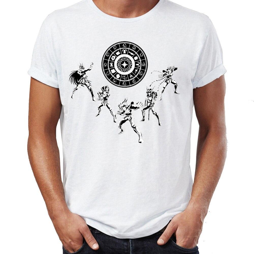 Summer Men's T-shirt Saint Seiya My Little Pegasus Anime Artwork Awesome Tshirt Funny Cool Tees Tops Harajuku Streetwear