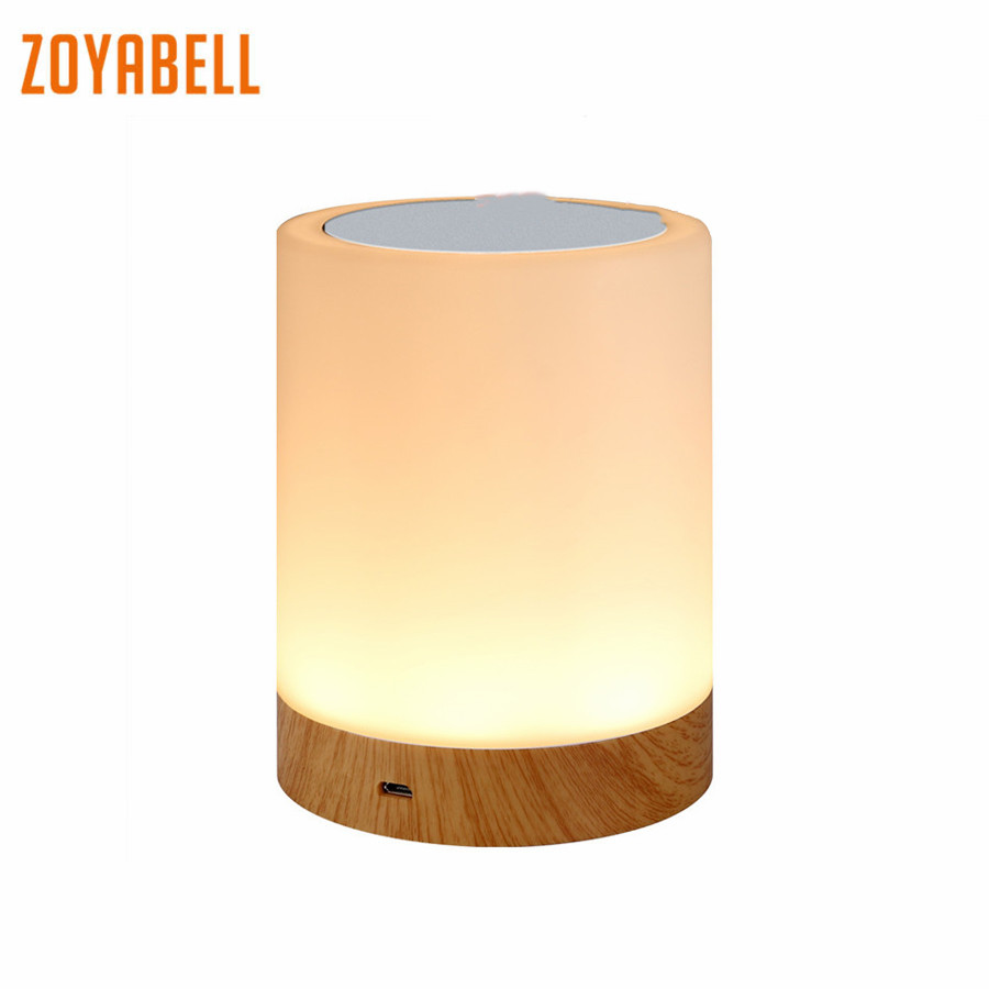 zoyabell Night Light Touch Activated Colorful Rechargeable Battery Table Portable Lamp Baby Kids Bedroom Reading Sleeping Light