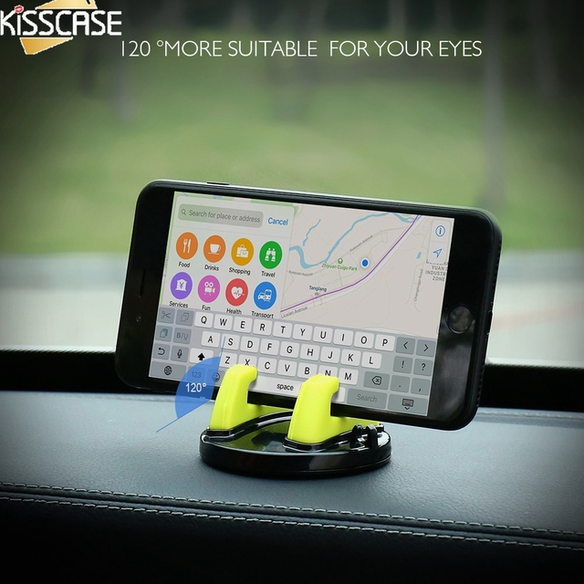 KISSCASE Universal Car Phone Holder For iPhone Xs Xr For Samsung 360 Rotatable Car Mobile Phone Holder Stand For Xiaomi Huawei
