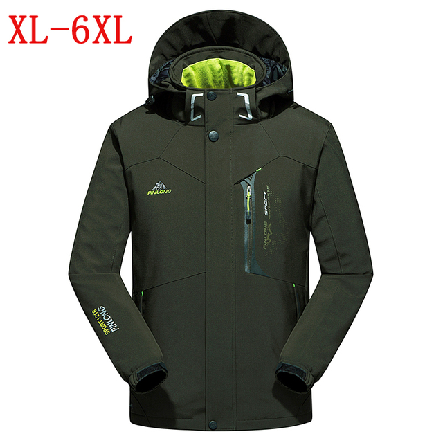 autumn winter new jacket men's waterproof windproof warm coat jacket men's casual soft shell thickening jacket size XL-4XL5XL6XL