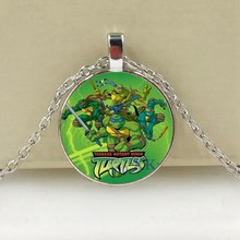Hot Movie Teenage Mutant Ninja Turtles Necklace Handmade Glass Cabochon Photo Necklaces Pendants Kids Jewelry Boys Gifts(China)