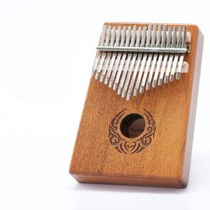 Image 4 - Scoutdoor 17 Keys Kalimba Thumb Piano Made By Single Board High Quality Wood Mahogany Body Musical Instrument