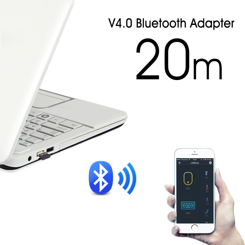 Image 4 - Bluetooth Adapter USB Dongle Bluetooth 4.0 Music Receiver For PC Computer Wireless Bluthooth Mini Bluetooth Transmitter Adapter-in USB Bluetooth Adapters/Dongles from Computer & Office