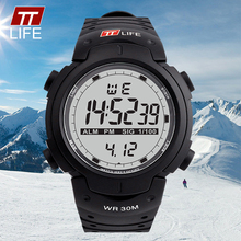 TTLIFE TS07 Casual Masculina Militar Hombres LED Digital Relojes de Moda relojes de Pulsera Digitales Caliente 30 M Impermeable Reloj Deportivo Al Aire Libre