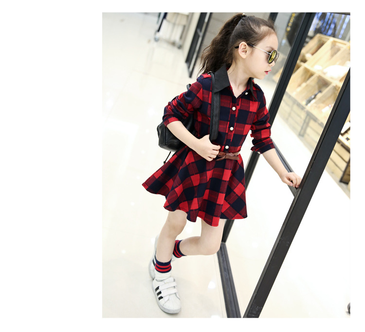 Plaid Dresses For Girls (11)