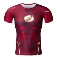 Cosplay Costume Reverse Flash Superhero 3D Printed T Shirt Men's Short Sleeve Compression Shirt Raglan Clothing 56A