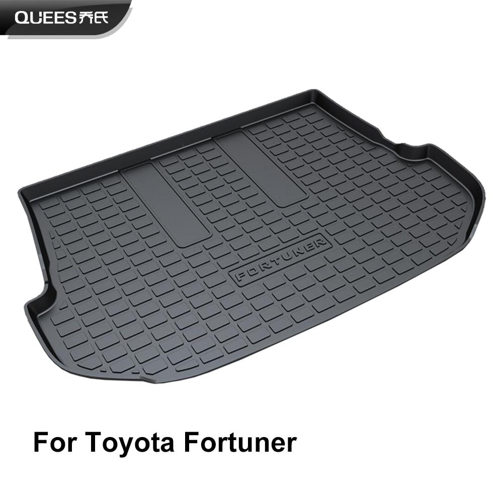 QUEES Custom Fit Cargo Liner Trunk Floor Mat for Toyota Fortuner 2009 2010 2011 2012 2013