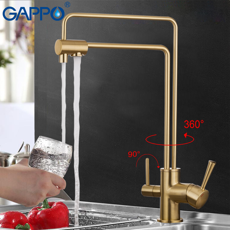 GAPPO water filter taps kitchen sink faucet torneira water mixer Brass kitchen Mixer drinking water filter taps GA4398-5/4398-6 gappo waterfilter taps kitchen faucet mixer taps water faucet kitchen sink mixer bronze water tap sink torneira cozinha ga1052 8