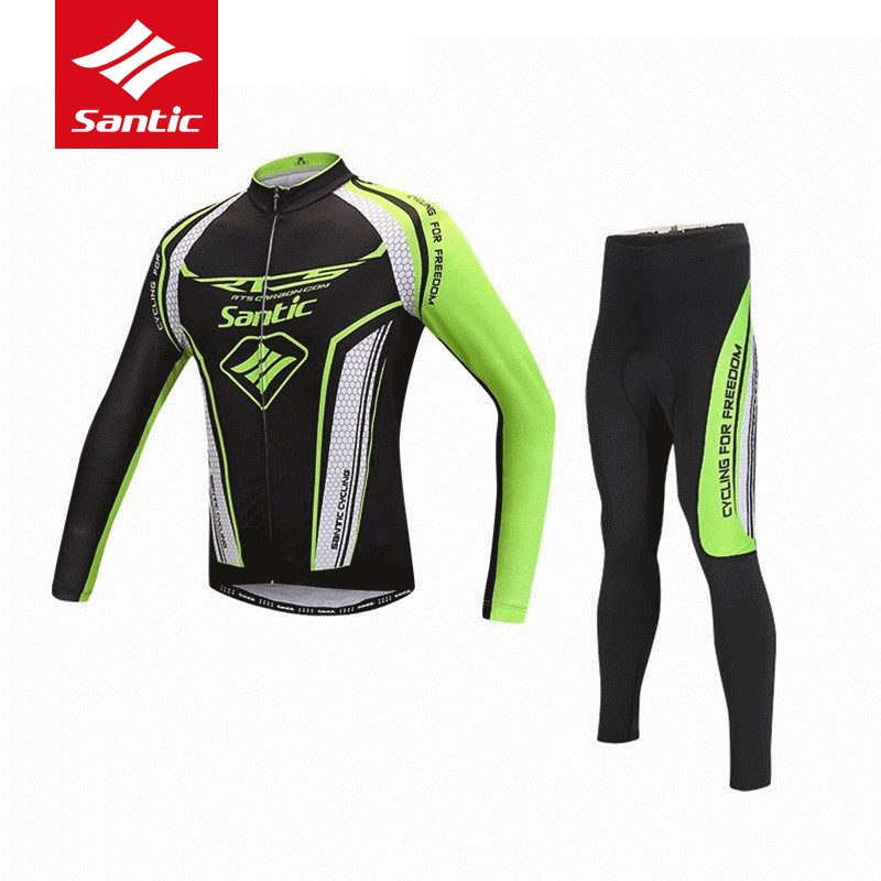 Santic Cycling Jersey Set Men 2018 Racing Team Long Sleeve MTB Road Bicycle Bike Jersey Sets Cycling Clothing Ropa Ciclsimo железная дорога yako останови крушение