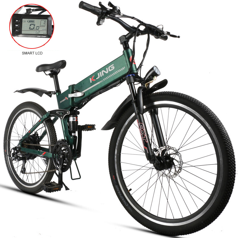 26 di pollice fold montagna Ebike elettrico lightweig batteria al litio nel telaio in lega di alluminio 48 V 500 w motore off-strada equitazione fitness