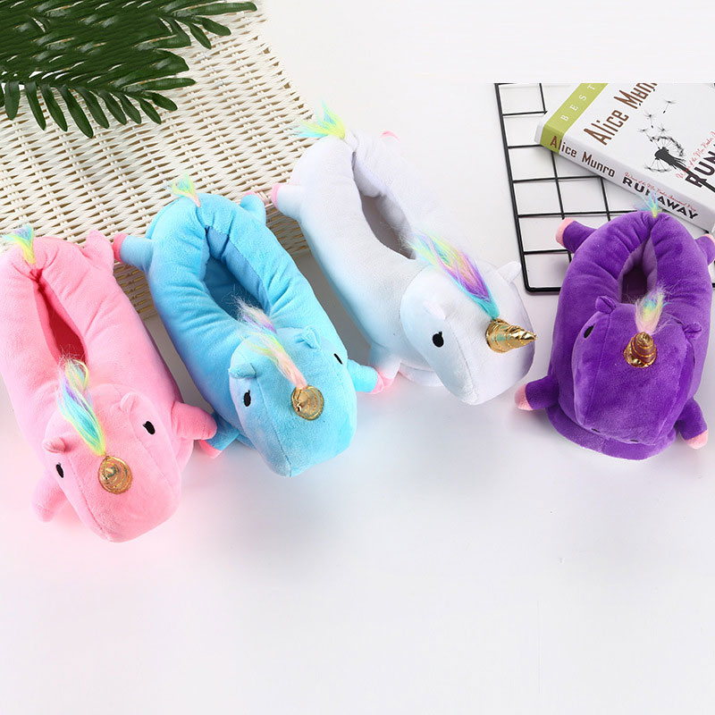 Unicorn Kigurumi Shoes 3D Animal Cartoon Slippers Unisex Kid Adult Pajama Party Cosplay Street Wear Men Women Girl Boy Cute Shoe